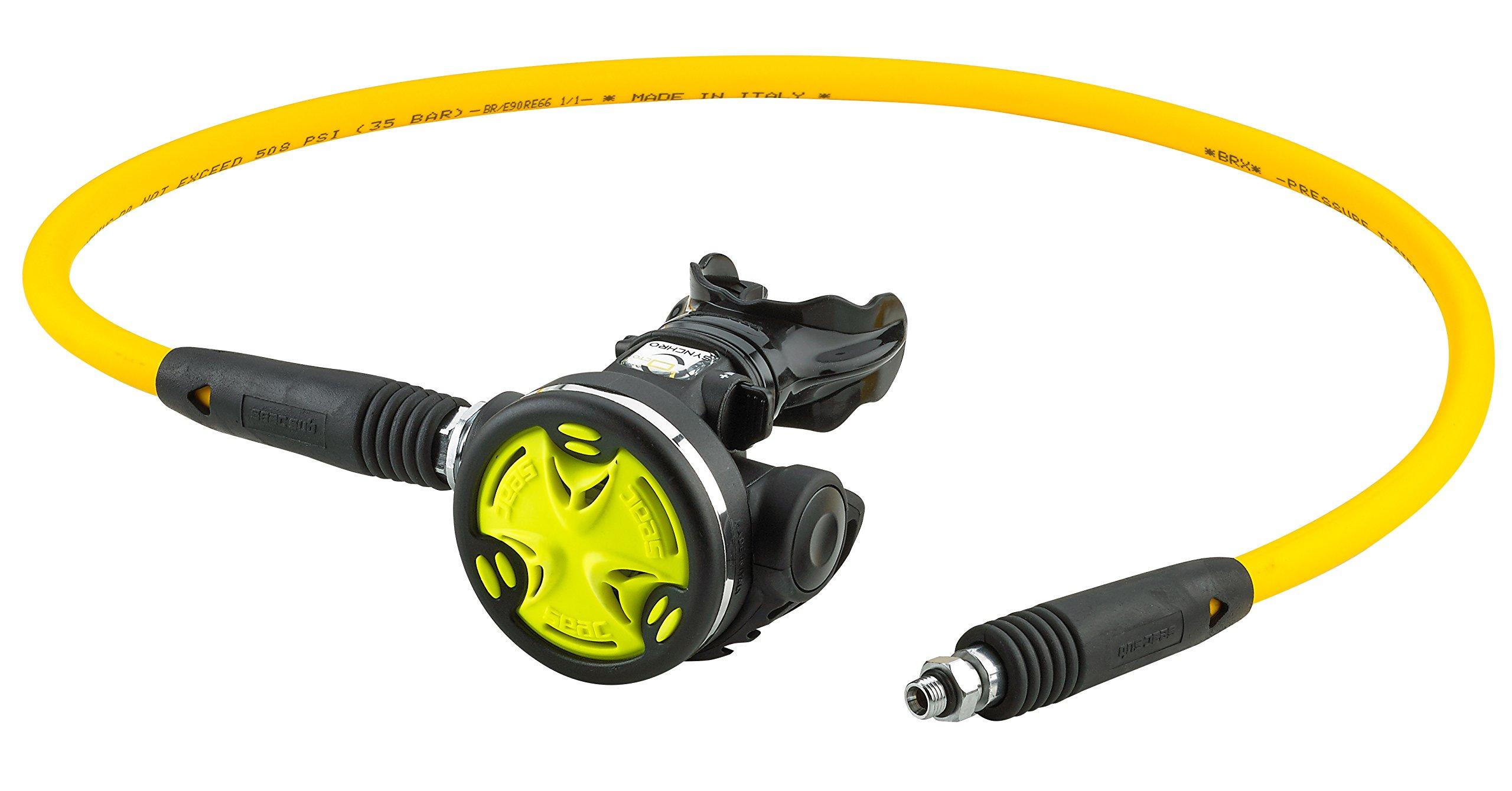 SEAC Scuba Diving Octo Synchro Regulator (Yellow with Hose)
