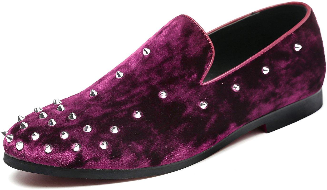 c465a42c9db37 Andy J.K. Men's Elegant Penny Tuxedo Moccasin Velvet Slip-On ...