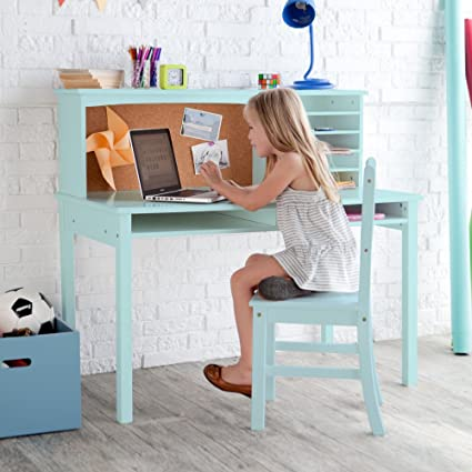 Amazoncom Guidecraft Media Desk Chair Set Teal Kitchen Dining