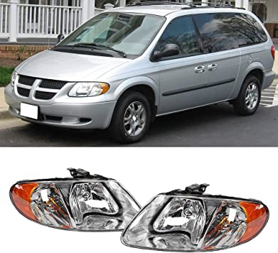 Chrysler Town /& Country 2001-2007 OE Style Headlight Assembly for Dodge Caravan 01-07