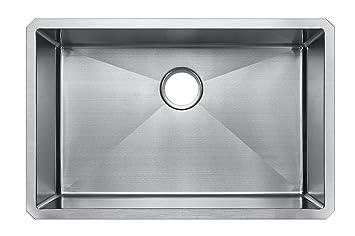 starstar 32 x 21 single bowl undermount 304 stainless steel 16 gauge kitchen sink starstar 32 x 21 single bowl undermount 304 stainless steel 16      rh   amazon com