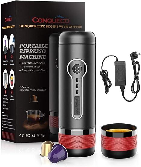 CONQUECO Cafetera eléctrica portátil con adaptador para calentar ...