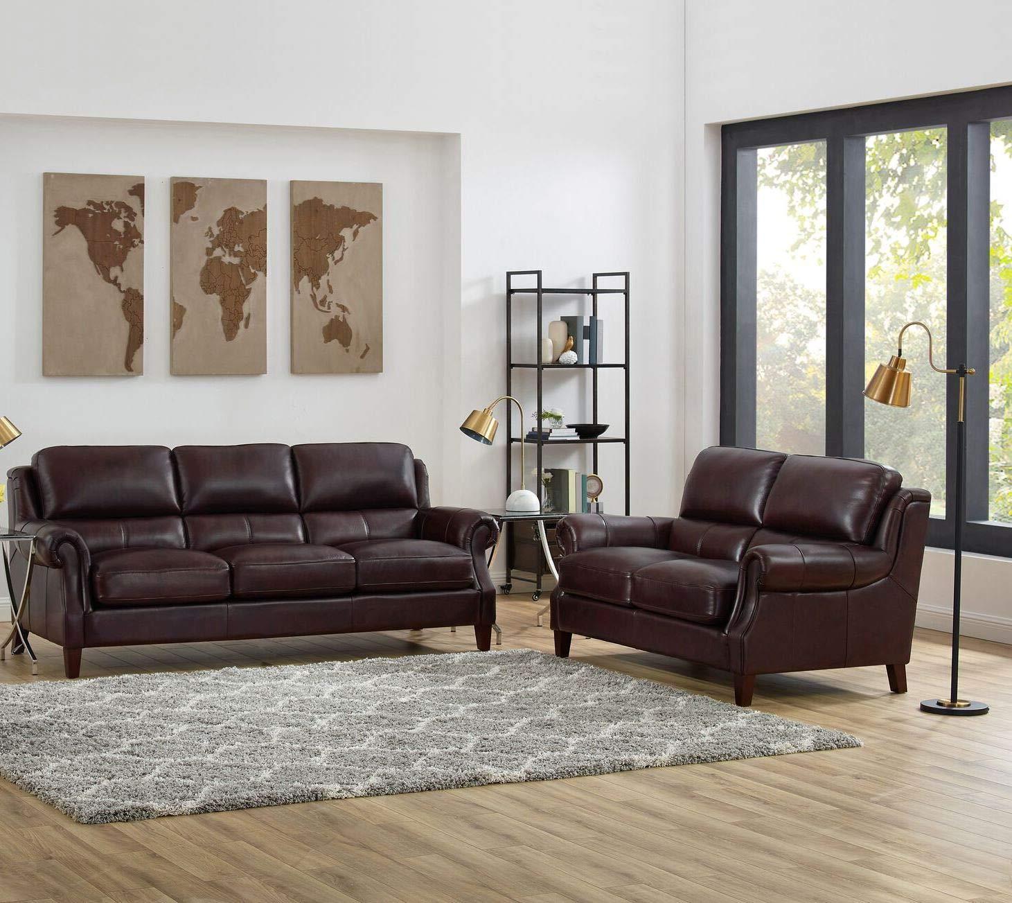 Amazon.com: Hydeline Bradbury - Juego de sofá (100% piel ...