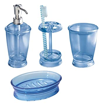 Amazoncom Mdesign Bath Accessory Set Soap Dispenser Pump