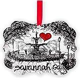 CafePress - I Love Savannah Ga - Christmas Ornament, Decorative Tree Ornament
