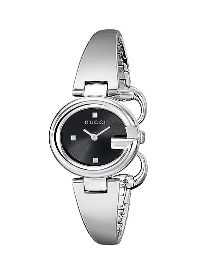 Gucci YA134501 - Reloj de cuarzo para mujer, con correa de acero inoxidable, color plateado: Amazon.es: Relojes