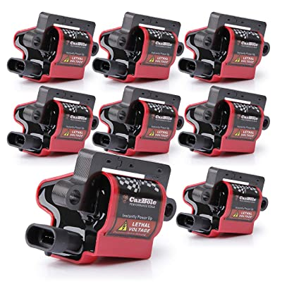 BANG4BUCK D581 UF271 Ignition Coils Square Type High Voltage for Cadillac Chevy Silverado Avalanche Express Suburban Tahoe GMC Sierra Savana 12558693 12556893 3859078, 8 Pack: Automotive