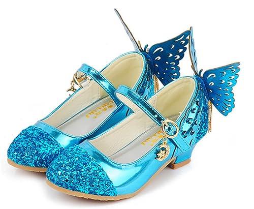 f0c602b3 YOGLY Zapatos de Tacones Para Niñas Zapatos Princesa de Lentejuelas con  Alas Zapatilla de Baile Sandalias Para Niños: Amazon.es: Zapatos y  complementos