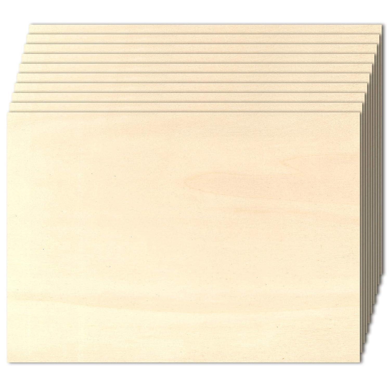 30 x 42 cm - A3 10 Tableros de madera de chopo contrachapado de 4 mm.