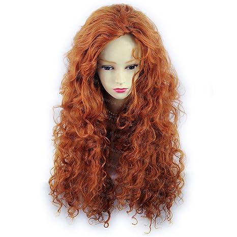 Beautiful sexy Wild Untamed largo rizado peluca zorro rojo Wiwigs – Peluca mujer, Â ®