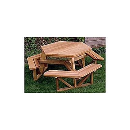 Woodworking Project Paper Plan To Build Hexagon Picnic Table - Hex picnic table