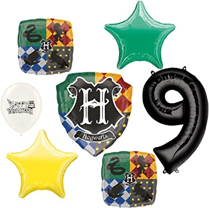 Amazon.com: Harry Potter Hogwarts - Globo de fiesta de 9 ...