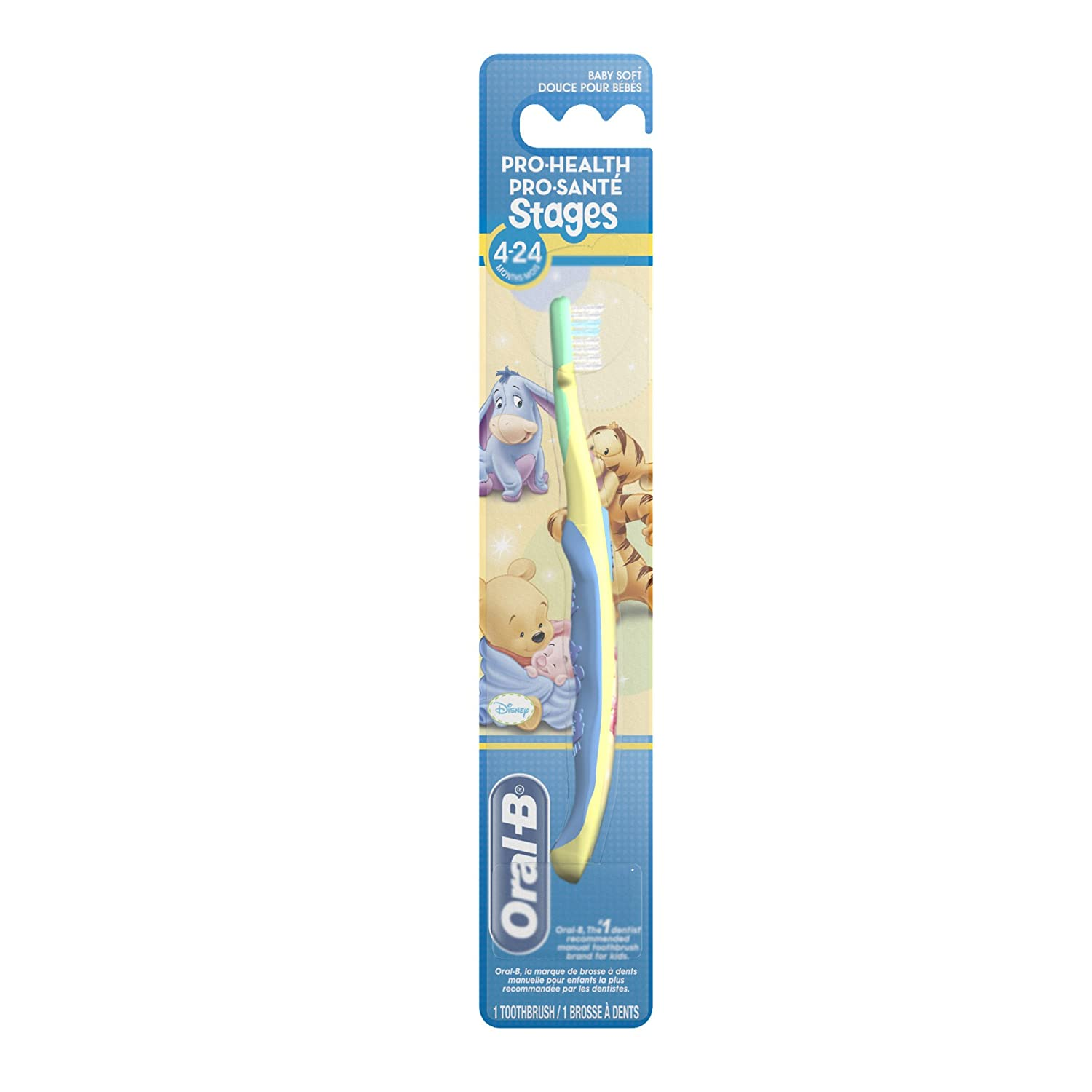 Oral-B Pro-Health Stages 4-24 Months Baby Soft Bristles Disney Toothbrush 1 Count, packaging may vary Oral B