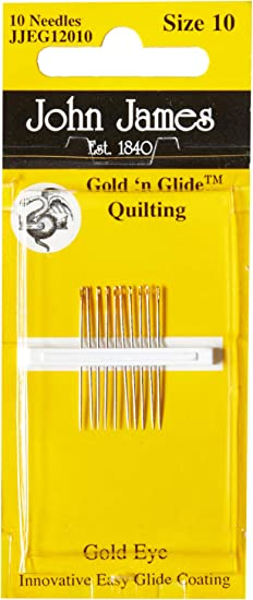 John James Gold Plated Quilting Needles Size 10