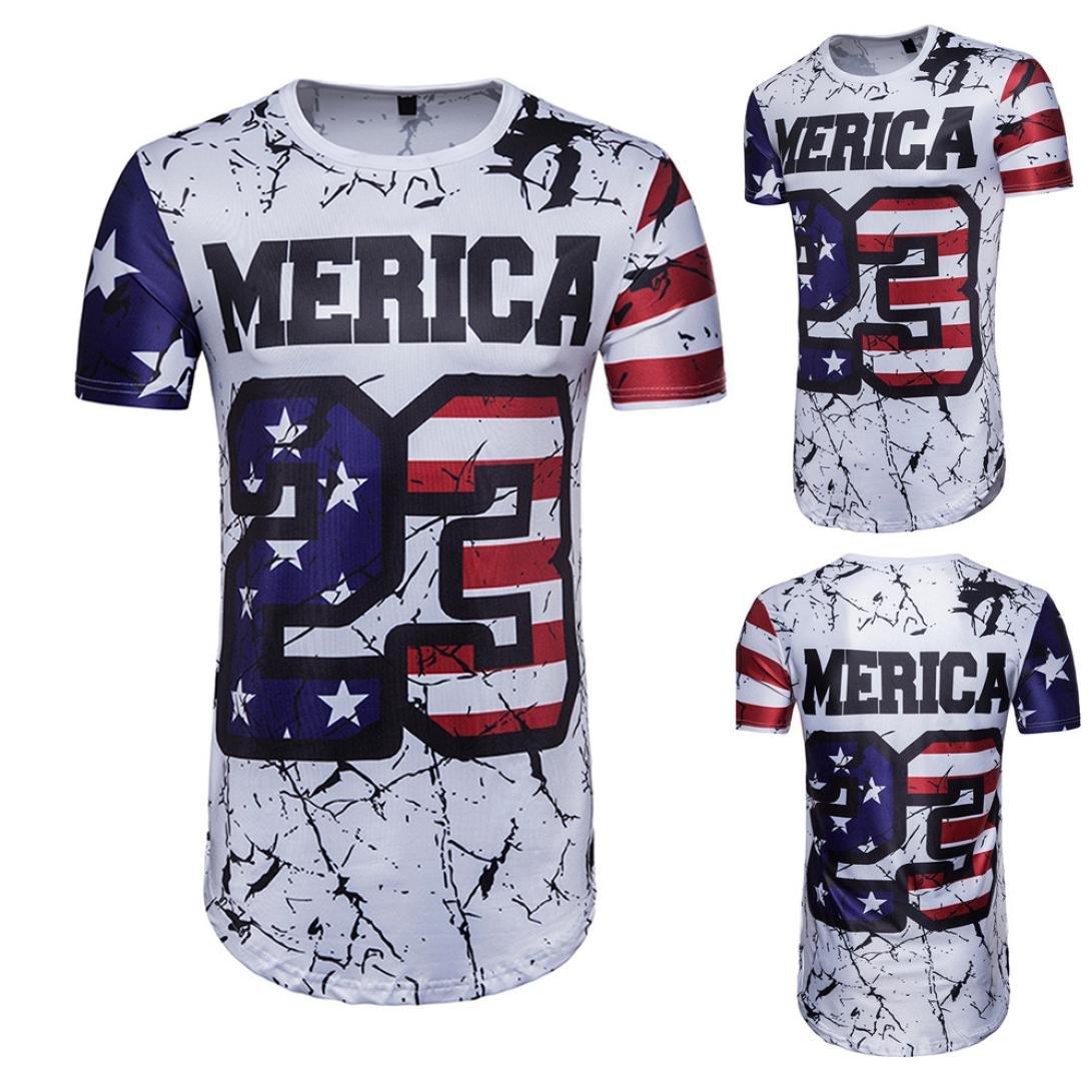 lywey 2018 Fifa WorldメンズTシャツ夏フットボールクール3d印刷文字Oネック半袖Tシャツトップブラウス B07BDHPV51 XX-Large MERICA 23 MERICA 23 XX-Large