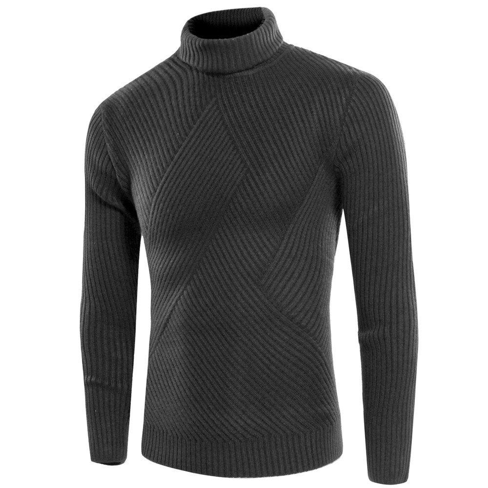 Gndfk männer - Pullover Rollkragen - Pullover  Herren alle Spiel - Pulli,dunkelgrau,m