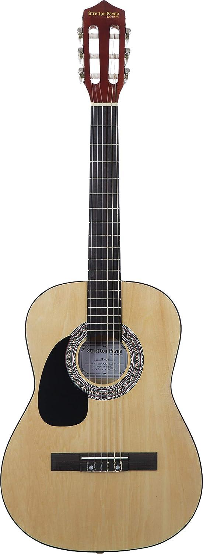 Guitarra acústica de mano izquierda, paquete de 3/4 tamaños (36 pulgadas), cuerda de nailon clásica para niños, paquete de guitarra natural: Amazon.es: ...