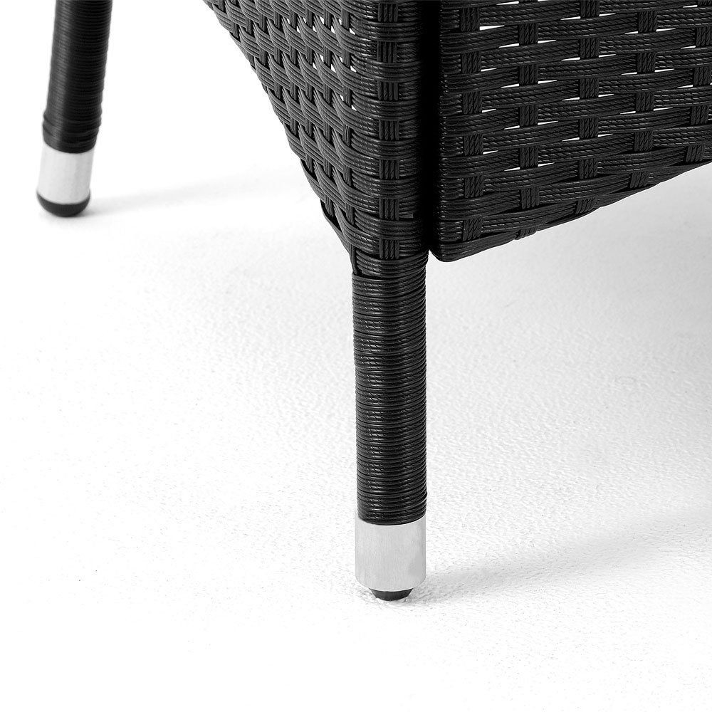 Amazon.de: Deuba Poly Rattan Sitzgruppe 8+1 Schwarz   8 stapelbare ...