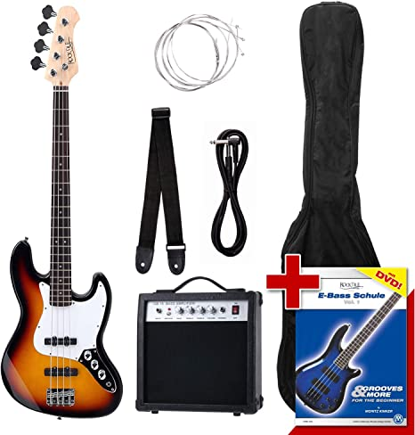 Rocktile Groovers - Pack bajo eléctrico JB, sunburst: Amazon.es: Instrumentos musicales