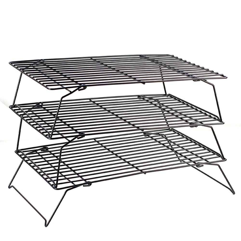 MyLifeUNIT 3 Tier Stackable Cooling Rack Set 6W-4TRD-N8UU