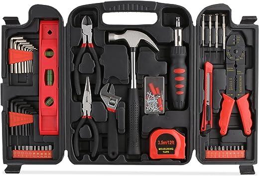 fixkit 129 pcs Kit – Estuche de herramientas, herramientas de uso doméstico, Kit herramientas de mano, maletín de herramientas: Amazon.es: Bricolaje y herramientas