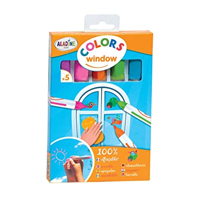 "Aladine 3042010 ""Colors Window Chalk Window Crayons (5-Piece): Toys & Games"
