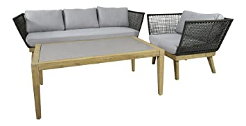 Amazon.de: Neu Design Garten Lounge Set Cuba in anthrazit für Balkon ...
