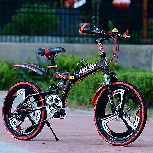 WYZXR Freestyle Niños Bicicletas Bicicleta para niños 20 Pulgadas Cambio de Marchas Amortiguador Plegable 8-9-10-18 años Estudiante de Primaria Bicicleta de montaña de aleación de Aluminio: Amazon.es: Hogar