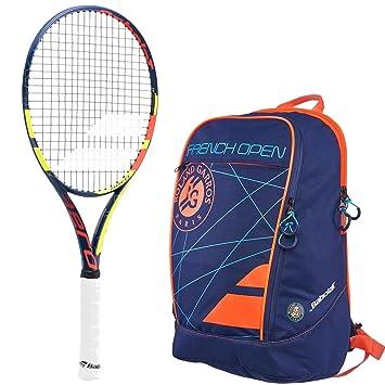 """Babolat Pure Aero French Open 26 """"Junior Raqueta de tenis paquete con un francés"""