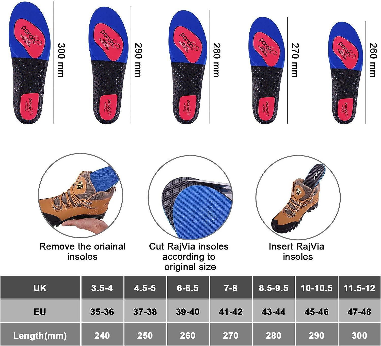 de marche et m/ême bottes Rajvia Semelles int/érieures pour hommes et femmes r/éduction de la fatigue musculaire et coussinets anti-stress id/éal pour chaussures de sport
