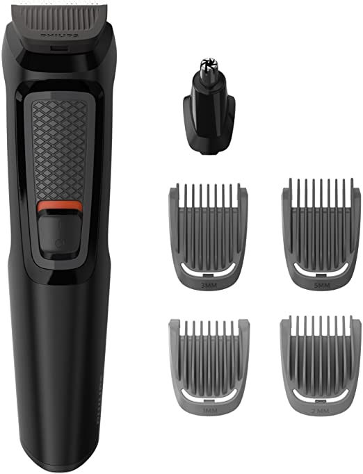 Philips MULTIGROOM Series 3000 MG3711/15 cortadora de pelo y maquinilla Negro Recargable - Afeitadora (Negro, Rectángulo, Barba, Oído, Ceja, Nariz, Acero inoxidable, 60 min, Integrado): Amazon.es: Hogar