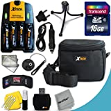 Ideal Accessory Kit for Nikon Coolpix L840, L830, L820, L810, L620 L610, L320, L32, L31, L30, L28, L26, L24, L22, L20, L19 Digital Cameras Includes 16GB High Speed Memory Card + 4 AA High Capacity 3100mAh Rechargeable Batteries with Quick AC/DC Charger + Padded Medium size Case + Universal Card Reader + Mini Table Tripod + Memory Case Holder + Screen Protectors + Deluxe Cleaning Kit + Lens Cap Holder + Ultra Fine HeroFiber Cleaning Cloth