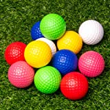THIODOON Practice Golf Balls Foam Golf Balls for Men Women 12Pcs 40mm Realistic Feel Colored Golf Balls Dent Resistant…