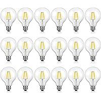 18-Pack Shine Hai G25 LED Vintage Filament Bulbs