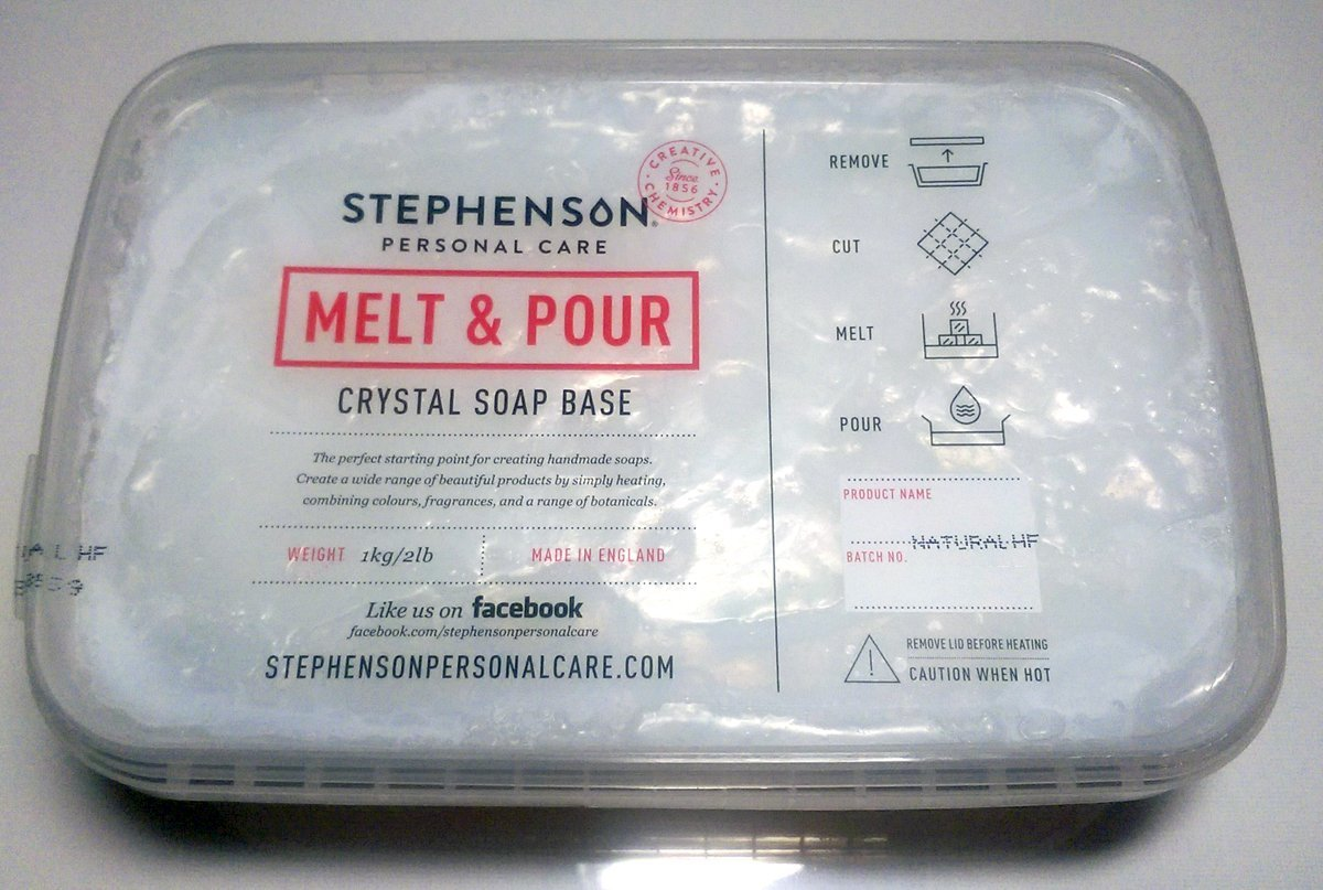 2lb All Natural Sulfate Free Stephenson Melt and Pour Soap Base (Crystal Natural HF) TRTBB113