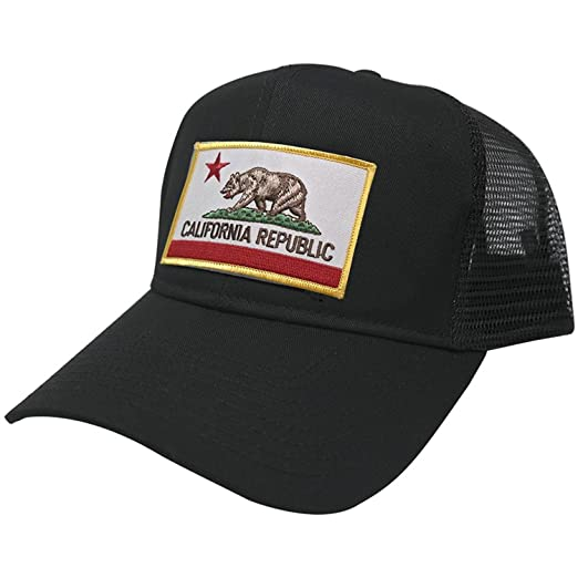 e7be3f6d0c0 Image Unavailable. Image not available for. Color  California Embroidered  Iron On Patch Snapback Trucker Mesh Cap ...