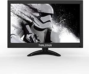 13.3 inch LCD Screen Small PC Monitor 1366 x 768 HD Small HDMI Monitor Screen with VGA/HDMI/Speaker for Raspberry Pi, Computer, Home Security CCTV System with Speakers