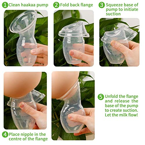 The Haakaa Manual Breast Pump is extremely easy to use