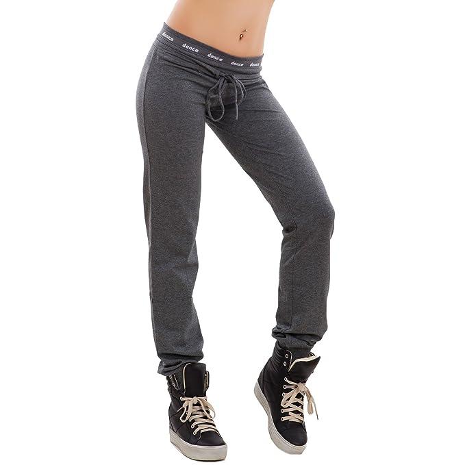 3703e00820 Toocool - Pantaloni Donna Tuta Cotone Dance Elastico Sport Fitness Polsini  Nuovi 8818