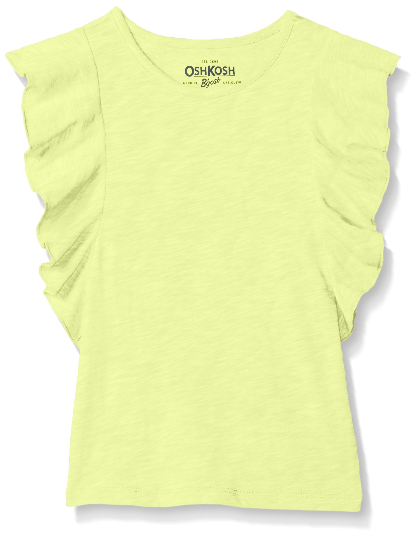 Osh Kosh Girls' Kids Fashion Tops, snap Yellow, 6-6X