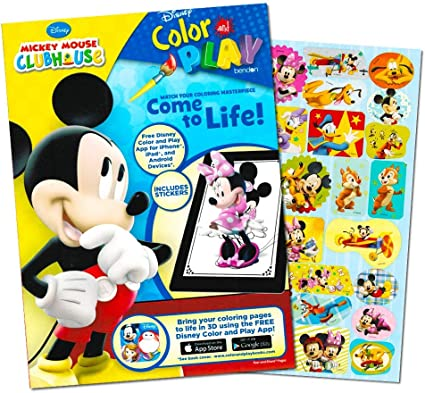 - Amazon.com: Mickey Mouse 144 Page Coloring And Activity Book With Over 30  Stickers.: Toys & Games