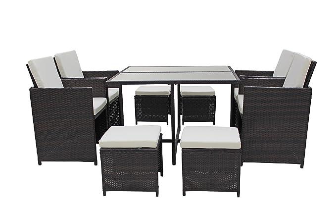 Amazon.com: Moderno 8 piezas ahorro de espacio muebles al ...
