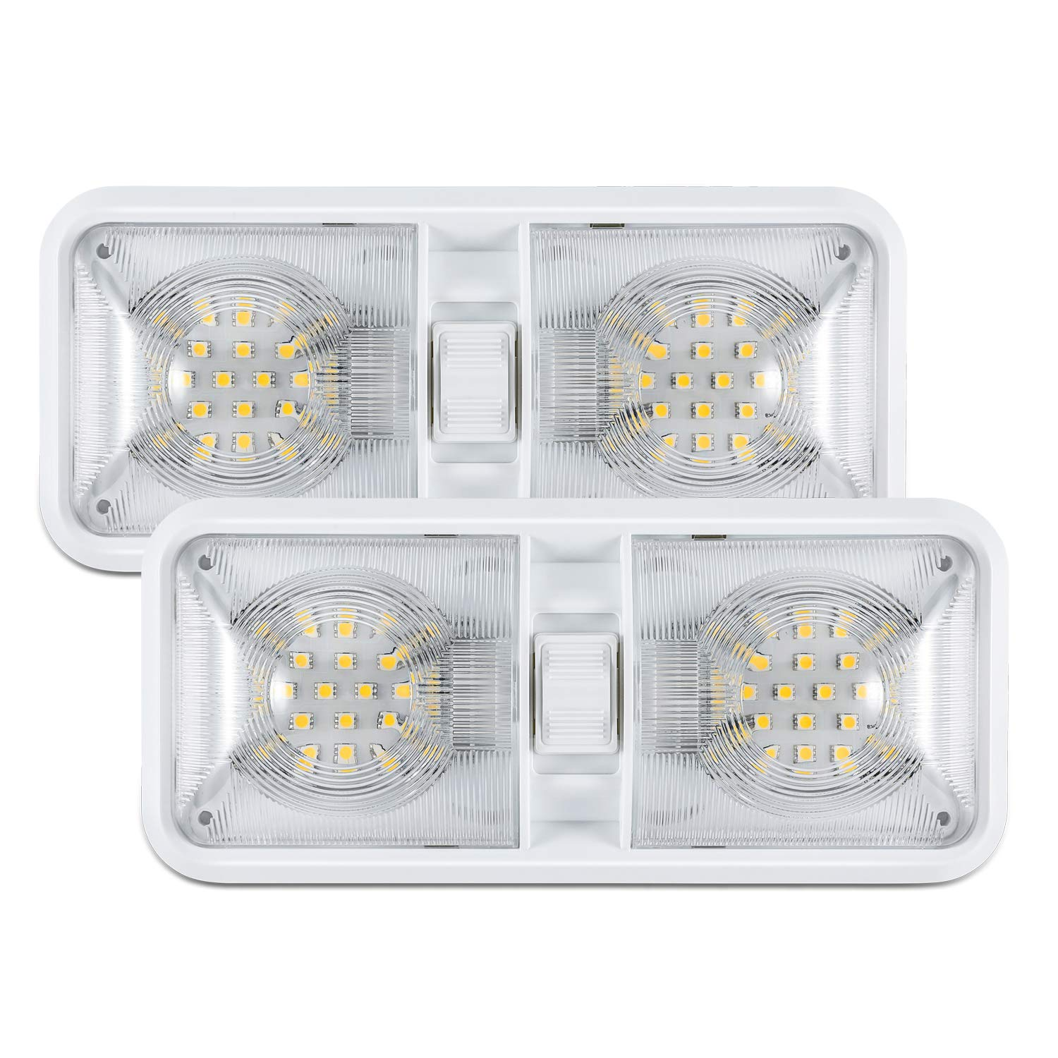 Kohree 12V Led RV Ceiling Dome Light RV Interior Lighting for Trailer Camper with Switch, White Pack of 5 HP321-HM