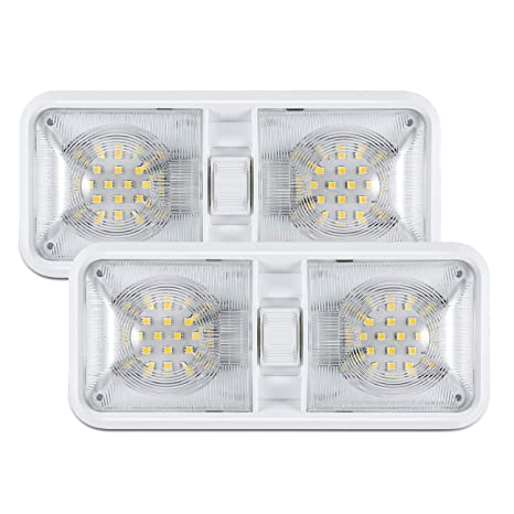 Amazon.com: Kohree 12 V LED RV techo cúpula luz RV ...