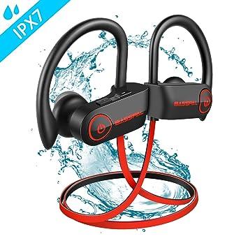 Auriculares con Bluetooth, BassPal Auriculares inalámbricos a ...