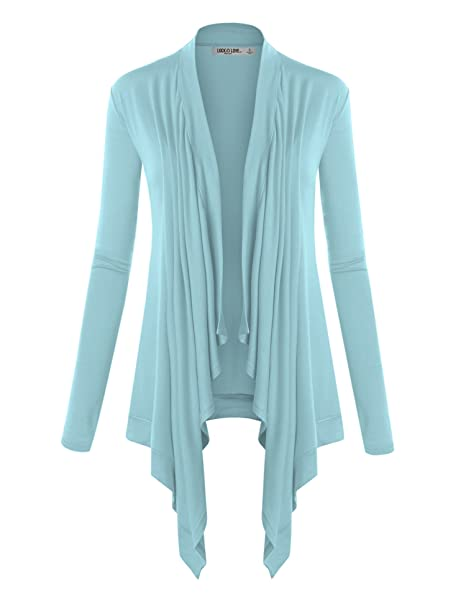 Lock and Love Women s Basic Draped Long Sleeve Open Front Knit Cardigan S -  XXXL Plus Size - Made in U.S.A. 6649d14ea