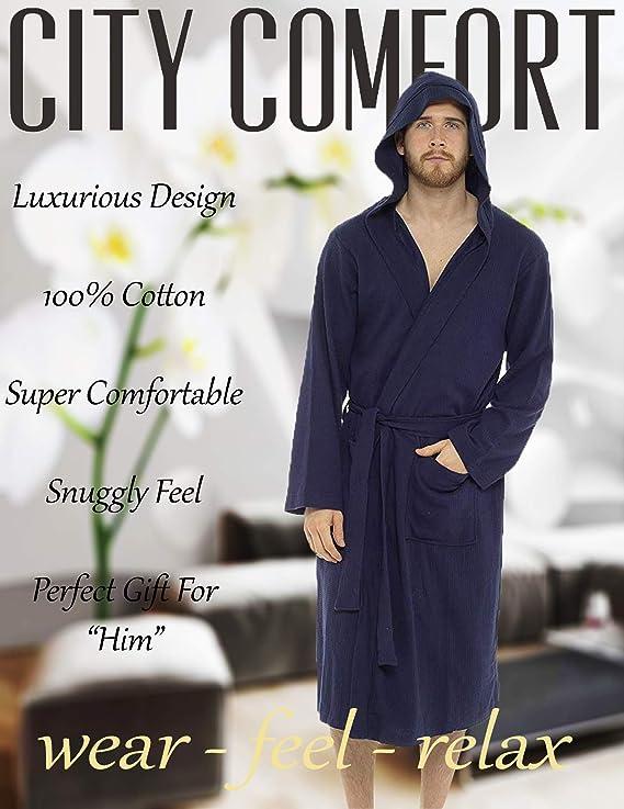CityComfort Batamanta Hombre Súper Suave Batin Piscina Gimnasio SPA: Amazon.es: Ropa y accesorios