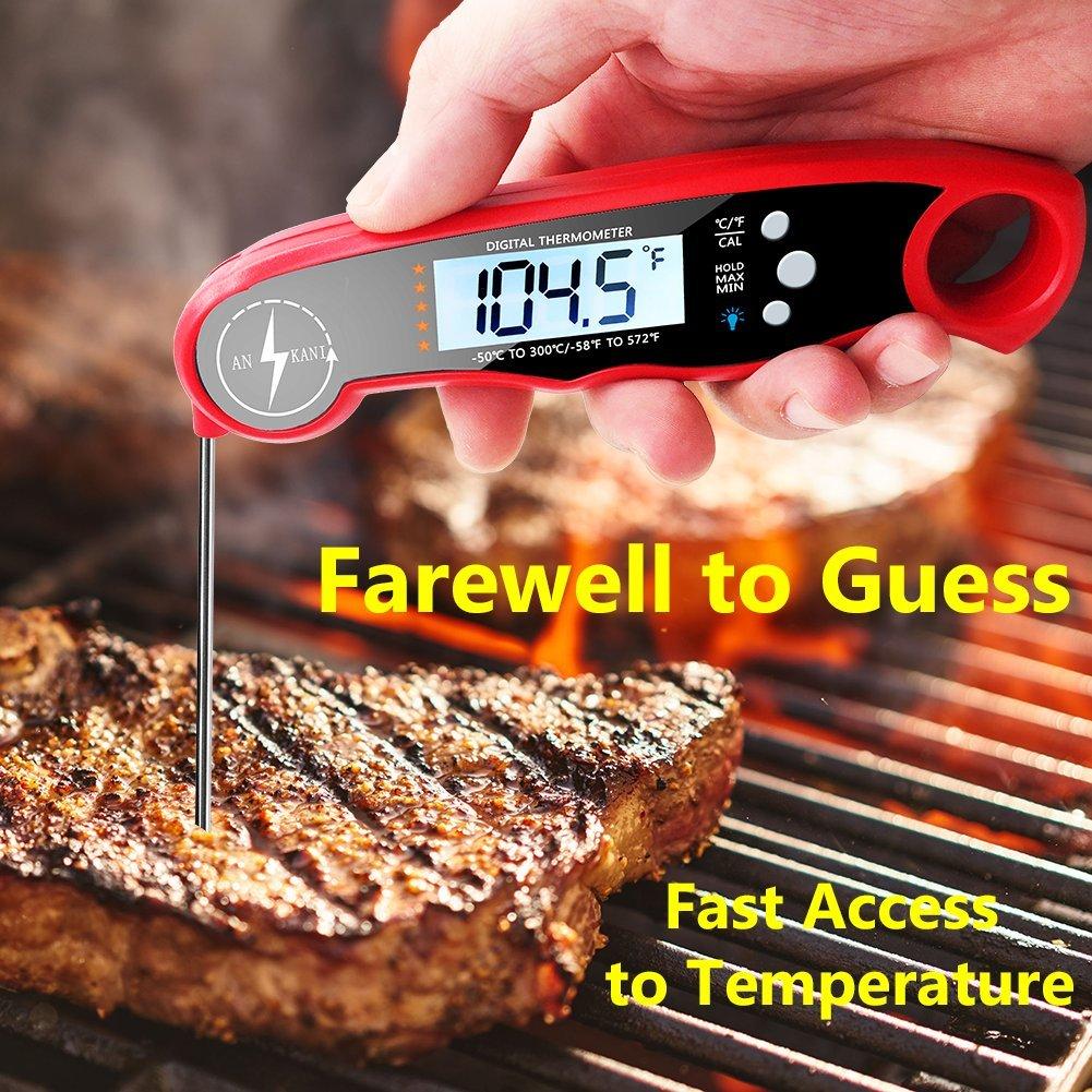 Amazon.com: ANSKANI - Termómetro digital de carne de lectura ...