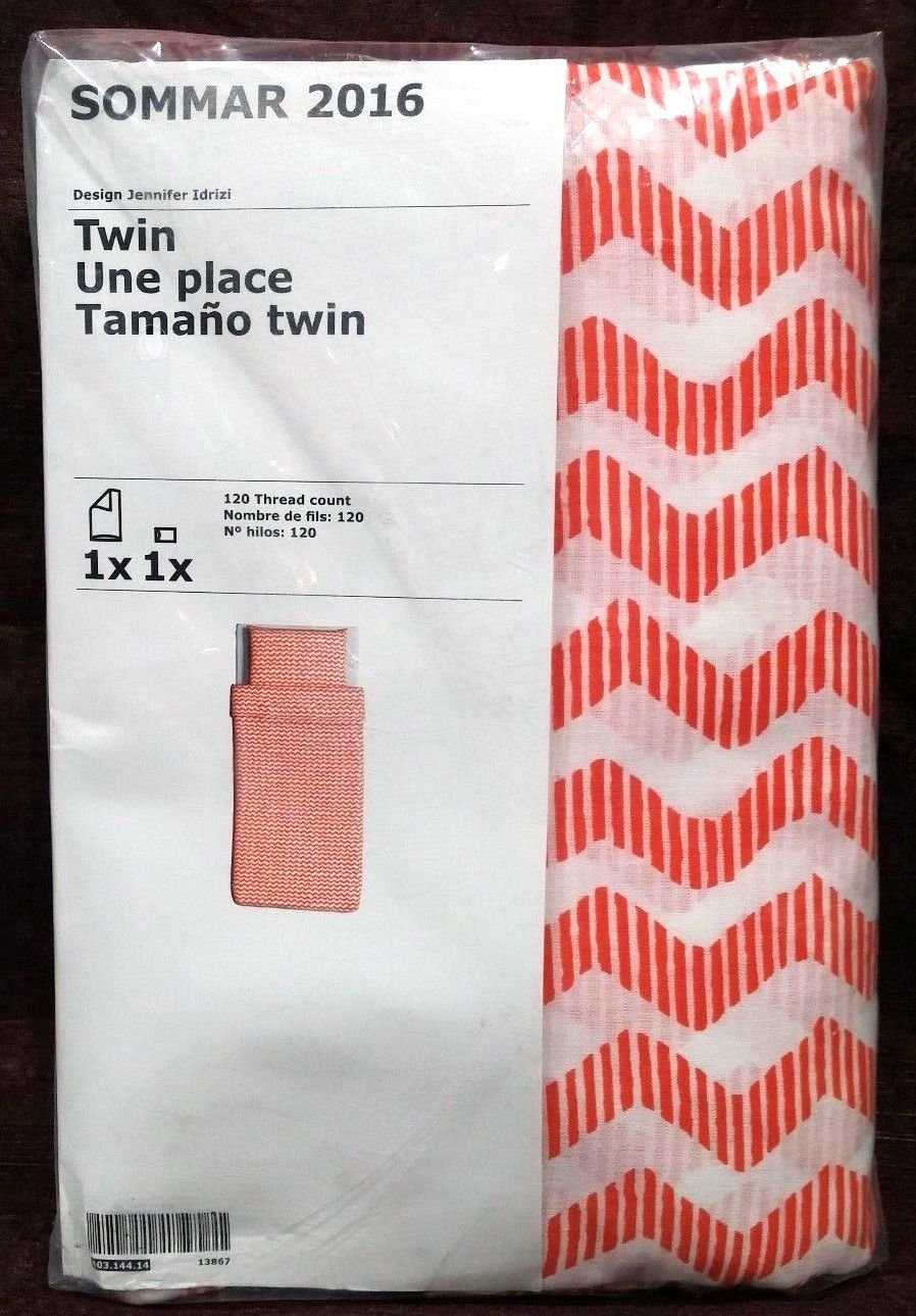 Amazon.com: Ikea Sommar 2016 Twin Duvet Cover and Matching Pillowcase, Orange: Home & Kitchen