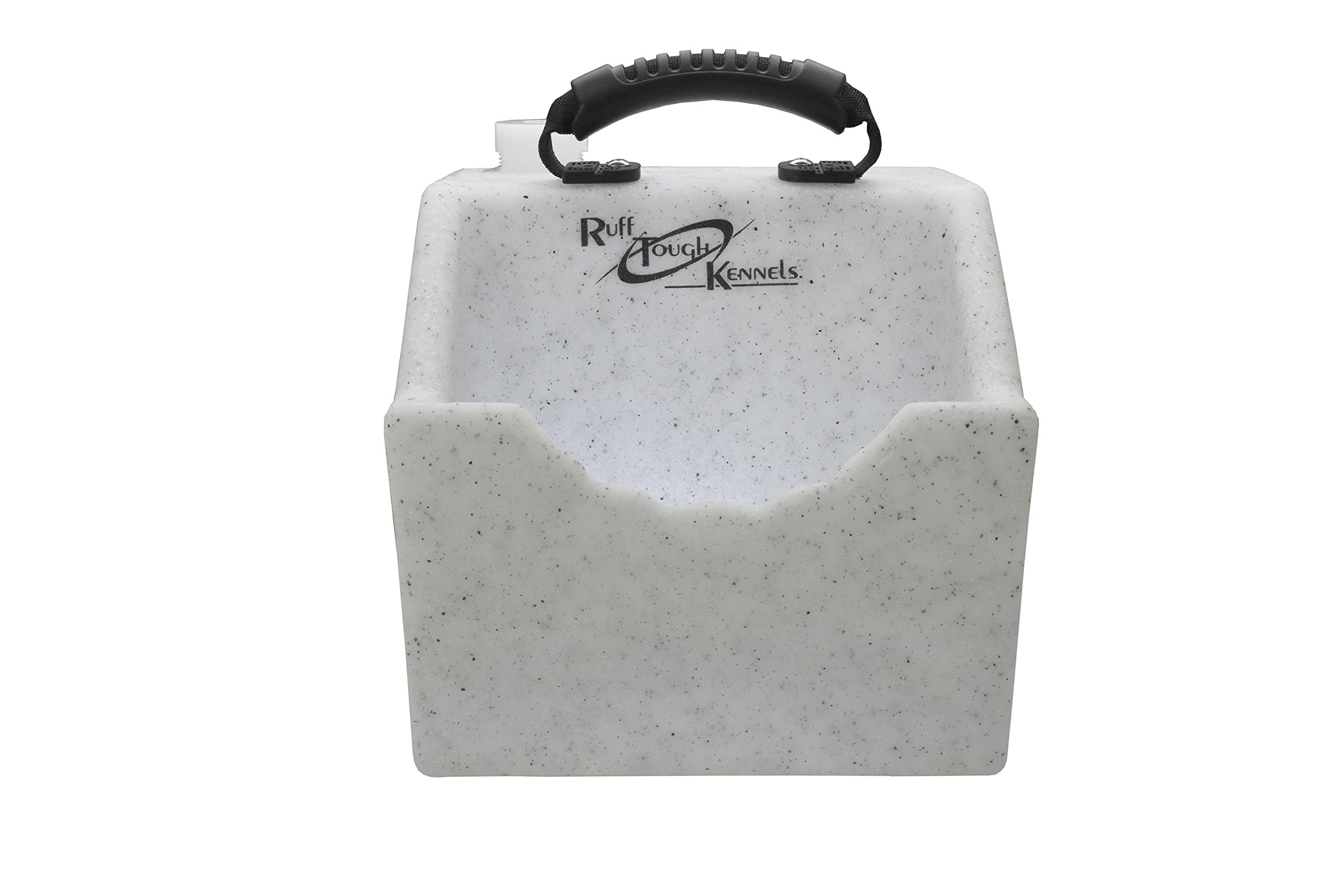 Ruff Tough Kennels Dog Water Dish, Bowl, Easy to use Portable Water Station, Whitestone color, Holds 1 Gallon of water, 10.5'' long, 10''wide, 11.5''Tall